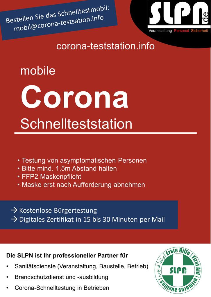 Corona Schnellteststation